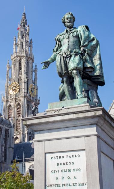 Antwerp + PP Rubens statue + Antwerp shopping tour